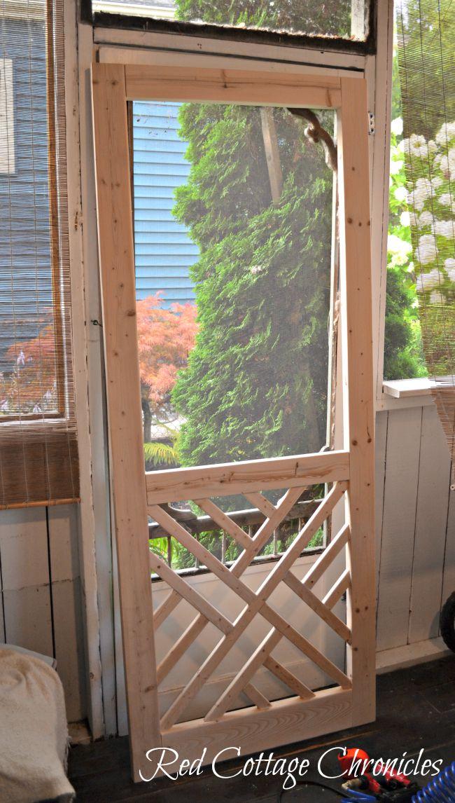 Superbe DIY Wood Screen Door