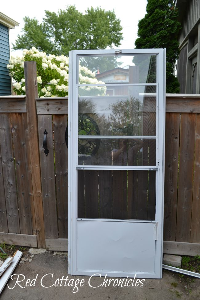 Diy Wood Screen Door Tutorial Red Cottage Chronicles