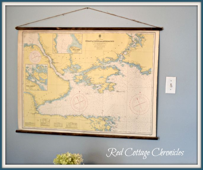DIY Vintage Classroom Map - Red Cottage Chronicles