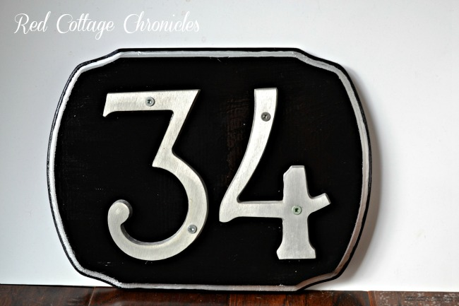 DIY address plaque