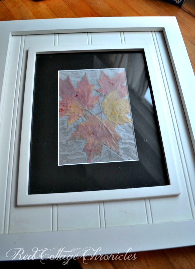 Old school DIY wax paper autumn leaf art