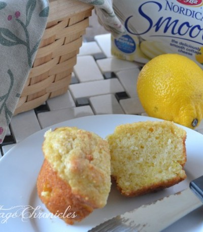 Lemon & White Chocolate Muffins (and some news!)