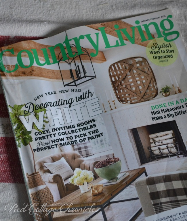 Country Living January/February Cover tobacco basket inspiration