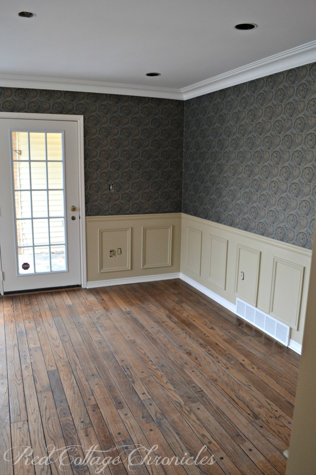 A coat of pain brightens a dark, dated dining room