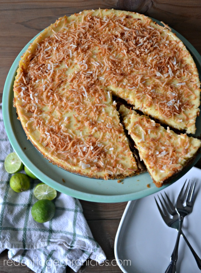 A decadent key lime coconut tart is tangy and sweet
