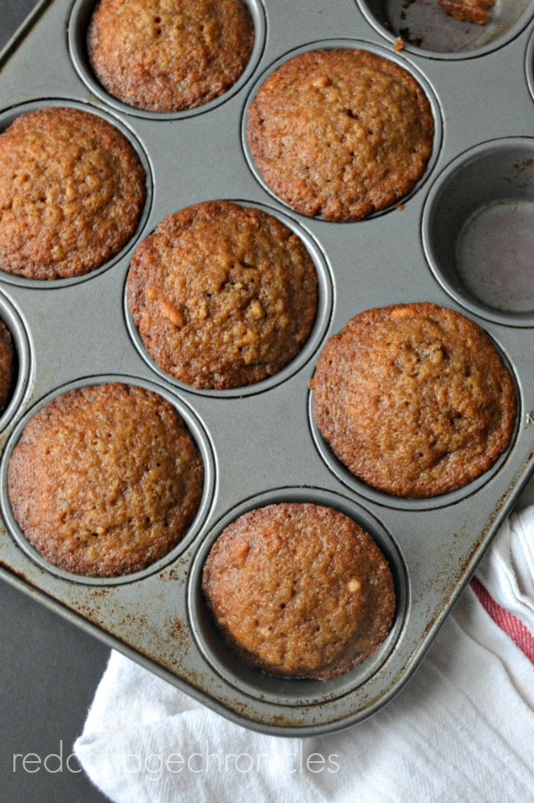 A filling muffin made with homemade oatmeal makes a great breakfast option when you are in a hurry!
