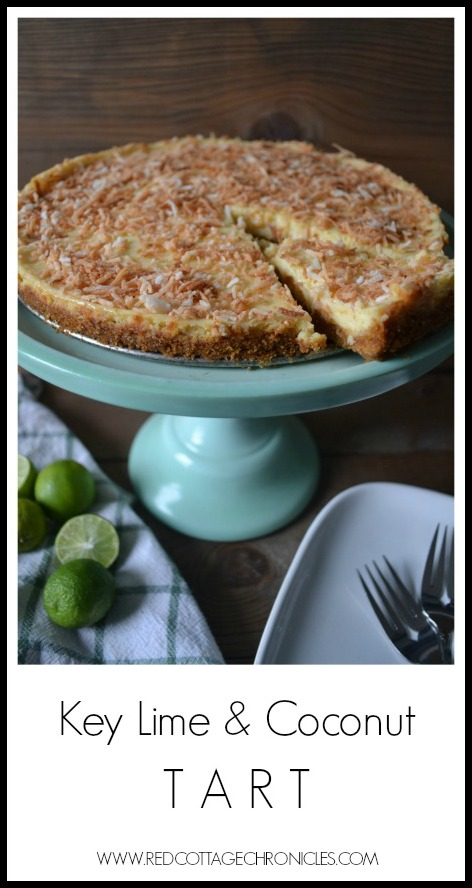 This tangy Key Lime Coconut Tart is so easy to make