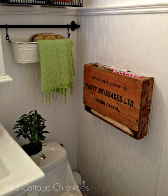 Vintage Soda crate upcycled to wall hung magazine holder