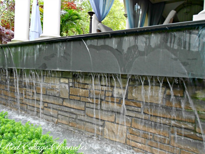 Terrace waterfall is part of a secret garden oasis in Niagara on The Lake