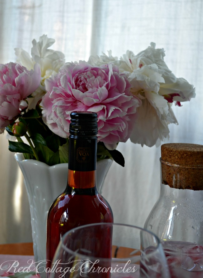 Tablescapes - Setting a table for two with flowers from the garden