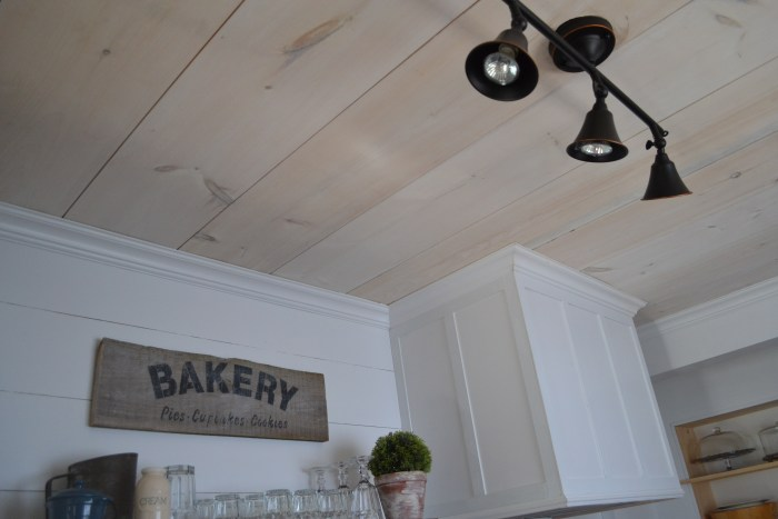 Kitchen Reveal Plywood Plank Ceiling - Year in Review