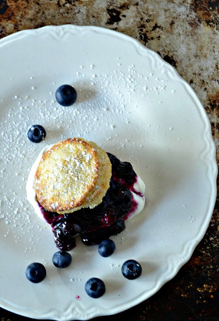 Homemade blueberry shortcake