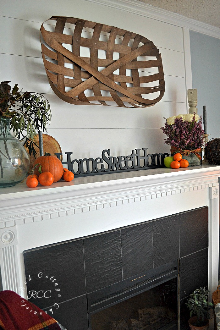 Fruit and Flowers Autumn Mantel