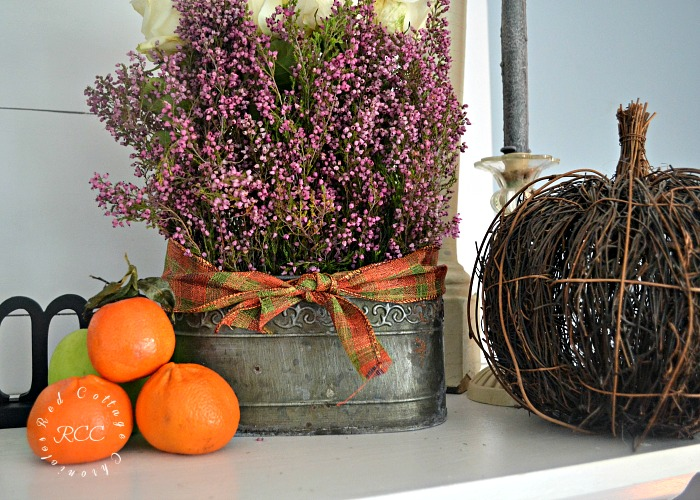 Fruit and Flower Autumn Mantel