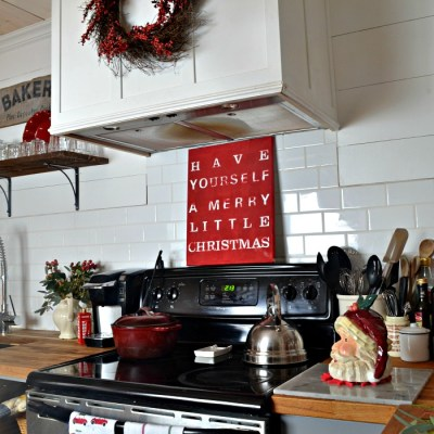 Holiday Home Tour Blog Hop My Christmas Kitchen