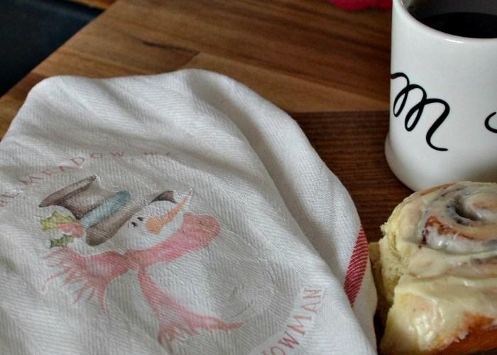 DIY Christmas Tea Towel