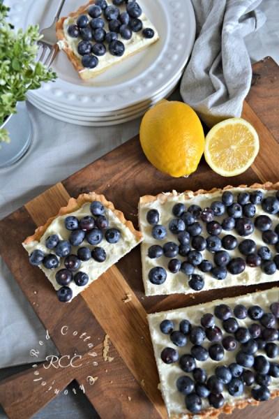 Joanna Gaines Blueberry Mascarpone Tart