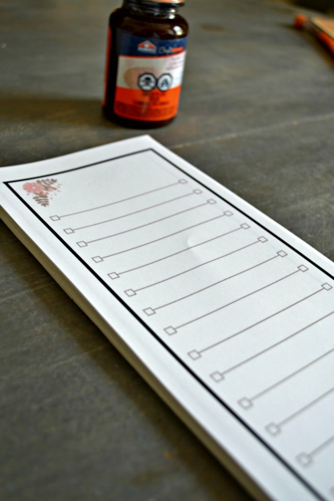 Tear off DIY Notepad