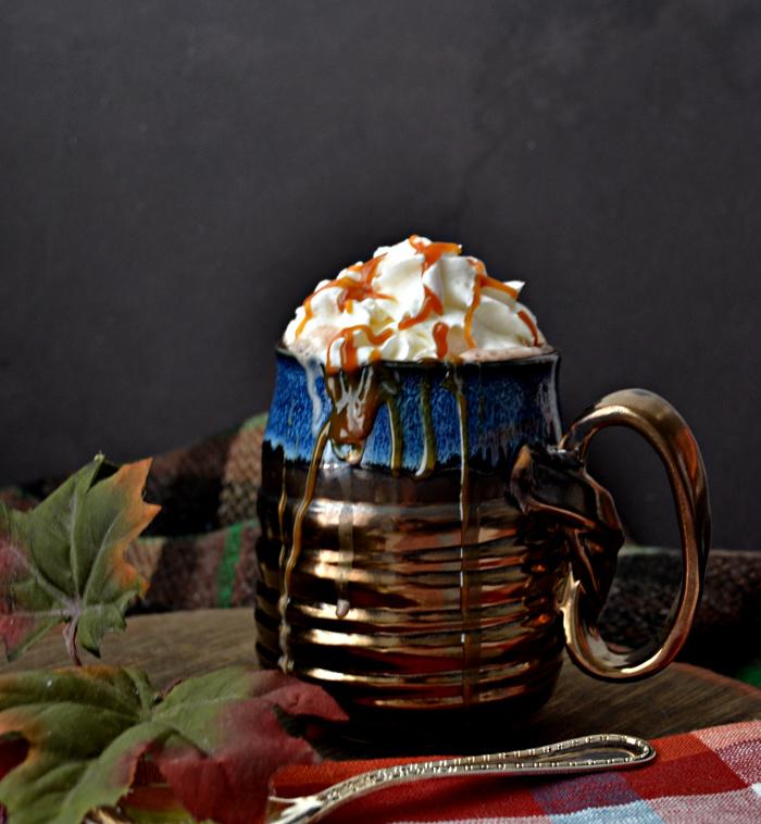 Caramel Irish Cream Hot Chocolate