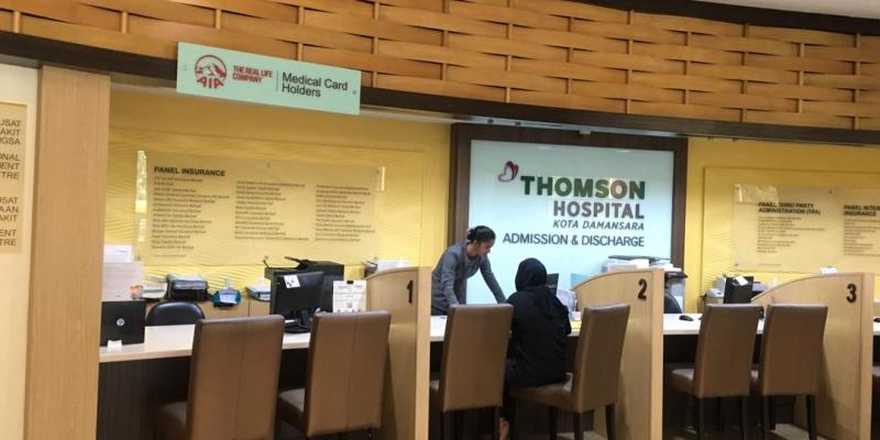 AIA Counter at Thompson Hospital Kota Damansara