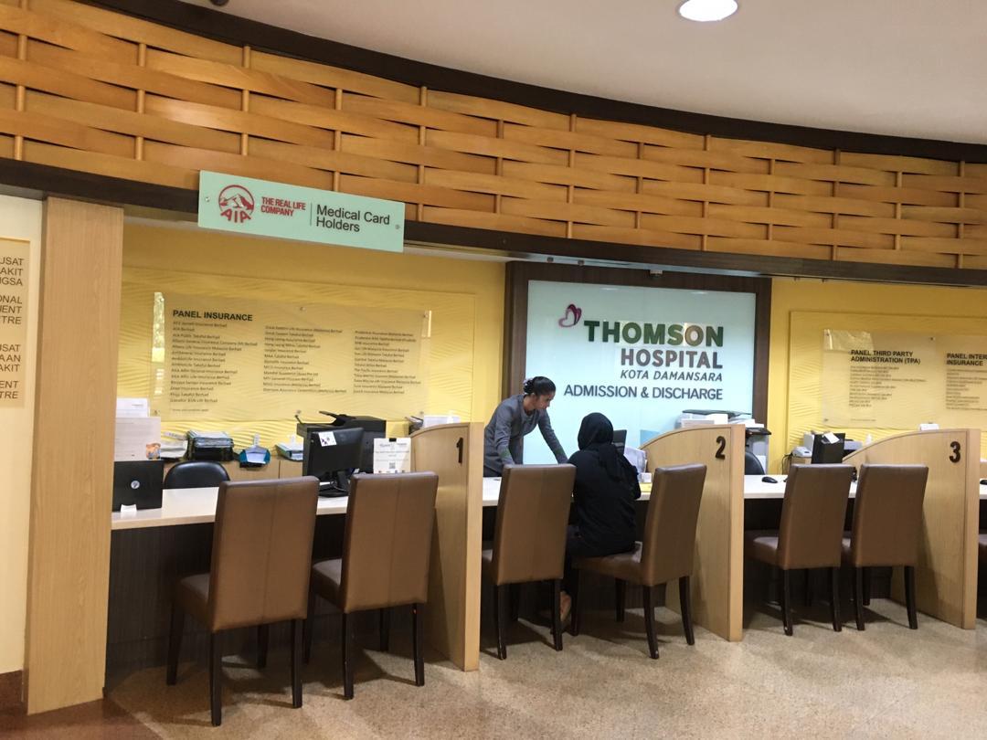 AIA Counter at Thompson Hospital Kota Damansara