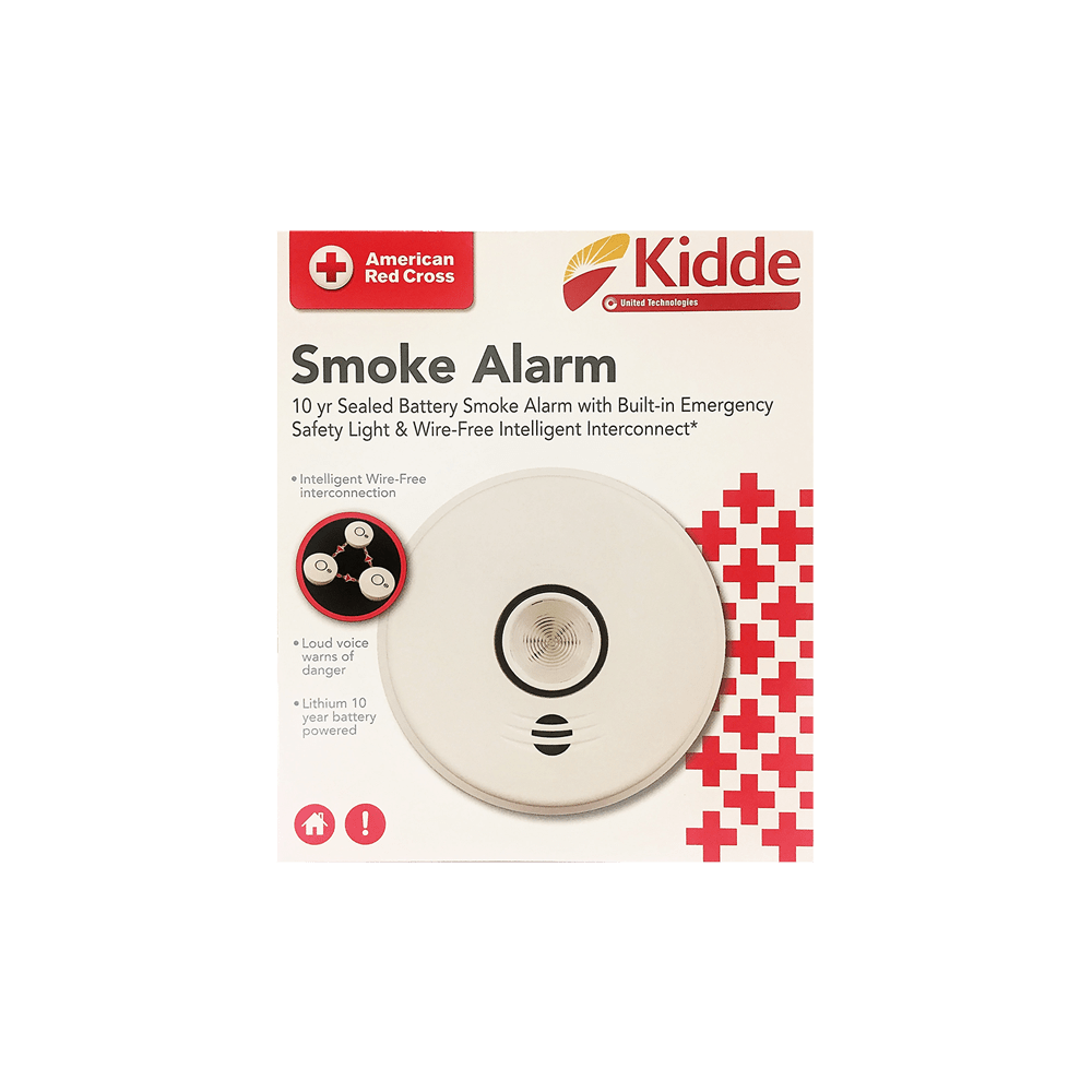 kidde smoke alarm with safety light and wireless interconnect [ 1000 x 1000 Pixel ]