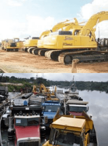 Synergy's bulldozers and road-building equipment