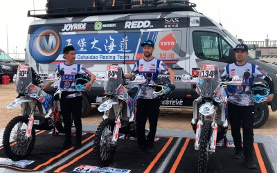 REDD Parts en el Rally Dakar con el Wu Pu Da Hai Dao Dakar Rally Team