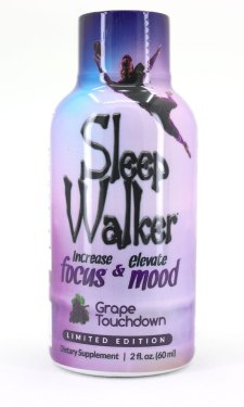 Sleepwalker Shot Grape Touchdown Bottle (Front)