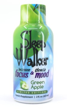 Sleep Walker Shot Green Apple Flavor Bottle (Front)