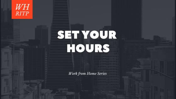 WH: Set a schedule