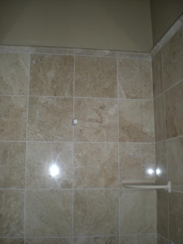 Marble and Travertine Custom Shower  Redding CA Quality Custom Tile Contractor  EC Tile