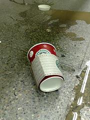 spilled latte