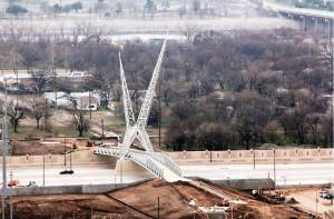 Controversial SkyDance Bridge project almost complete.  Photo by Doug Hoke, Daily Oklahoman.