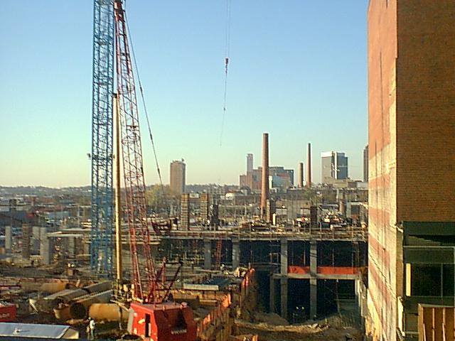 Image result for building cranes in Birmingham, AL