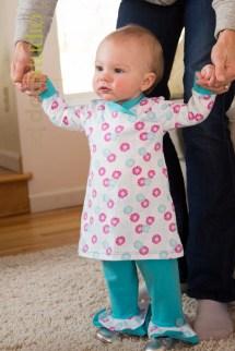 Knit dress w/cross-over bodice and Petal Pants