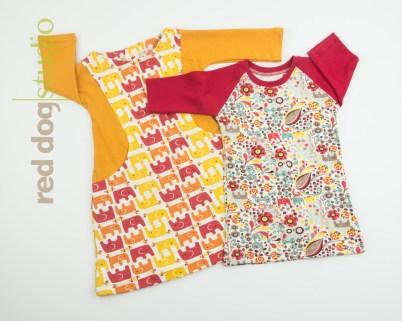 Curved Pocket Dress & Raglan Dress