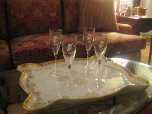 Limoges platter on table