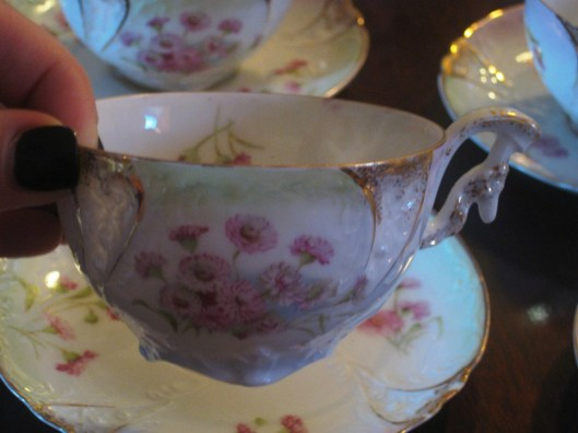 tea cup close up