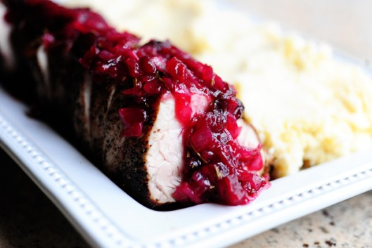 pork with cranberry sauce from pioneer woman