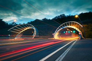 Highway tunnel at night - Reddot Networks