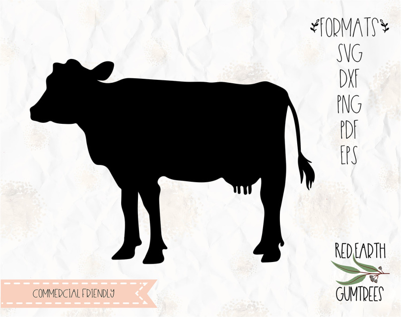 Download Free Cow Silhouette, cow Farm animal in SVG, EPS, PDF, DXF ...