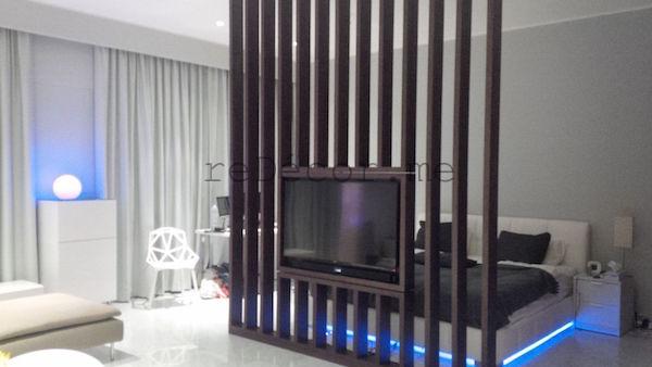 TV partition in studio, colour combo for studio apartment, interior decor consultation, design, ideas, Dubai