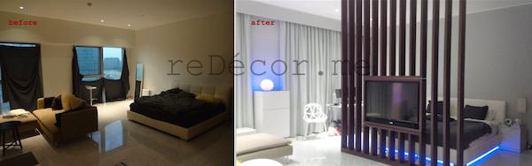 kitchen upgrade DIFC, TV partition in studio, colour combo for studio apartment, interior decor consultation wooden, design, ideas, Dubai, 3d panels