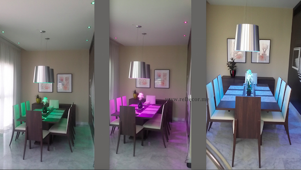 dining room decor, led lighting, contemporary living, DIFC dubai