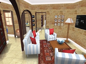 Living room floorplan 3D proposal