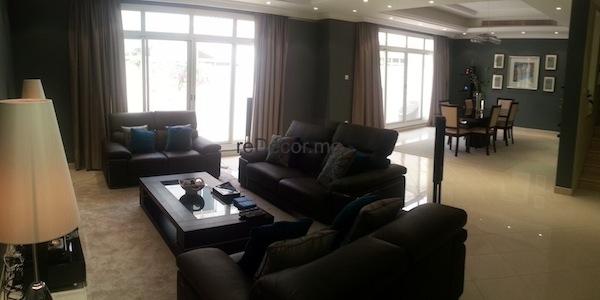 Villa living room decor