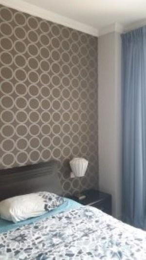 bedroom wallpaper, decor, dubai marina