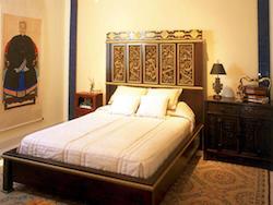 simple hardwood bedroom