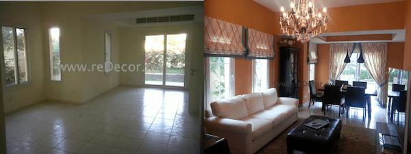 luxurious living room designs with Pottery Barn, Marina furniture dubai
